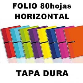 Bloc Tapa Dura 80h Horizontal Folio Enri