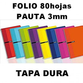 Bloc Tapa Dura 80h Pauta 3mm Folio Enri