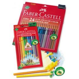 Lapiz 24 color-grip Faber-Castell
