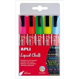 Pack de 5 rotuladores Tiza Líquida APLI