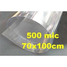 Plástico Transparente 500mic 70x100cm