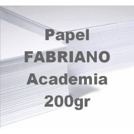 Papel Academia 200g 50x65cm Fabriano