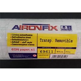 AironFix Transparente Removible 45cmtx1Mt