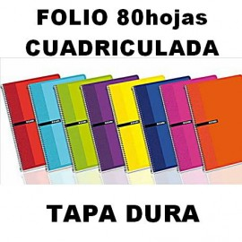Bloc Tapa Dura 80h 4X4mm Folio Enri