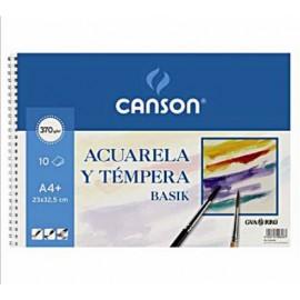 Bloc Acuarela A4+ Basik 370g Canson