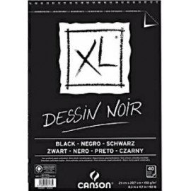 Bloc XL Negro A5 150g 15hojas Canson