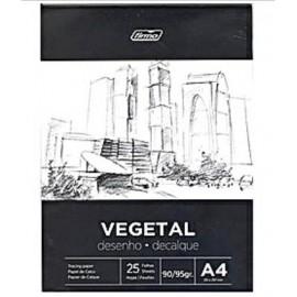 Papel Vegetal A4-90/95gr Pack 25hojas