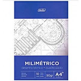Papel Milimetrado A4 Bloc 10 hojas