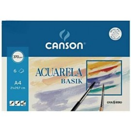 Pack 6 Basik 370g A4 CANSON