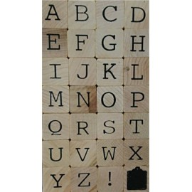 Sellos Goma Alfabeto Mayusculas 2x2cm