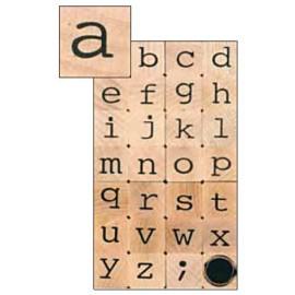Sellos Goma Alfabeto Minusculas 2x2cm