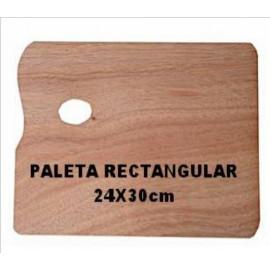 Paleta Madera Rectangular 24x30cm