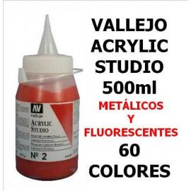 Acrilico Studio Metal/Fluor 500ml  Vallejo