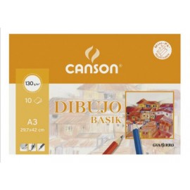 Pack 10  Basik A3-130gr CANSON