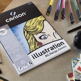 Bloc illustration 250g A4 Canson