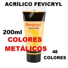 Pintura Acrílica Metalizada 200ml Fevicryl