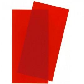 Plástico 15x30cm Rojo 2 hojas