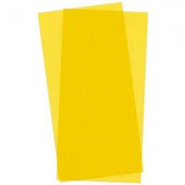Plástico 15x30cm Amarillo 2 hojas