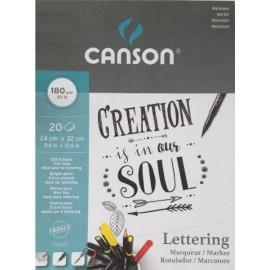 Bloc Lettering 180g 24x32cm Canson