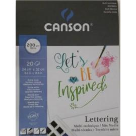 Bloc Lettering 200g 24x32cm Canson