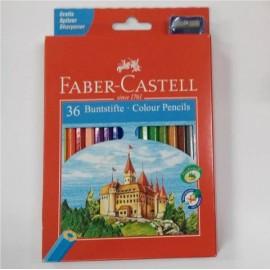 Lapices 36 Colores Caja Roja Faber