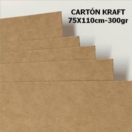 Carton Kraft 300gr 75x110cm