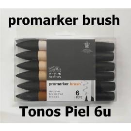 Promarker Brush Pack 6 Tonos Piel