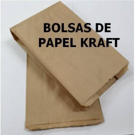 Bolsa Papel Kraft 16x28+9mm Pack 100