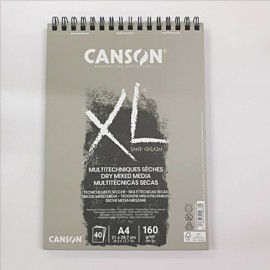 Bloc XL Téc Secas Gris A4 160g Canson