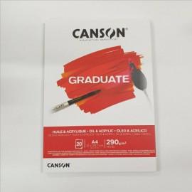Bloc Graduate Óleo  Acrílico A4 Canson
