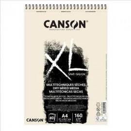 Bloc XL Téc Secas Natural  A4 160g Canson