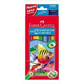 Lapices 12 Colores Acuarelable Faber