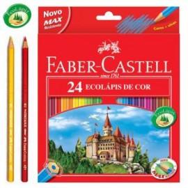 Lapices 24 colores Faber-Castell Caja roja